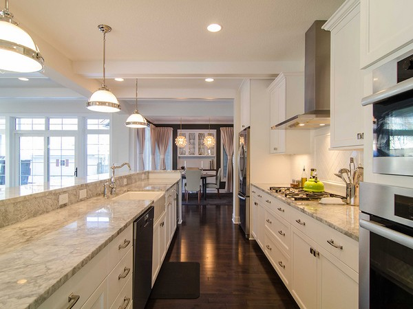 Galley Kitchen Decor Around The World - Galley kitchen ceiling lighting