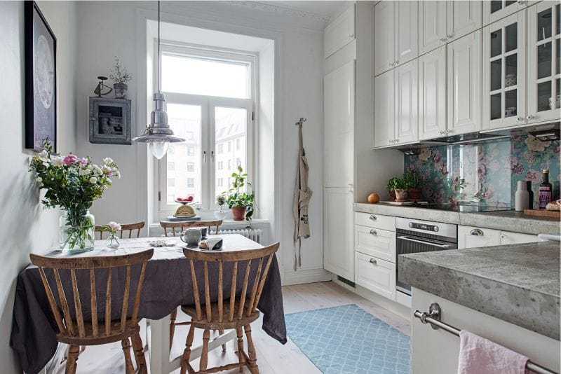 And Here Are A Couple Of Examples Of Small Square Kitchens With A Corner  Set.