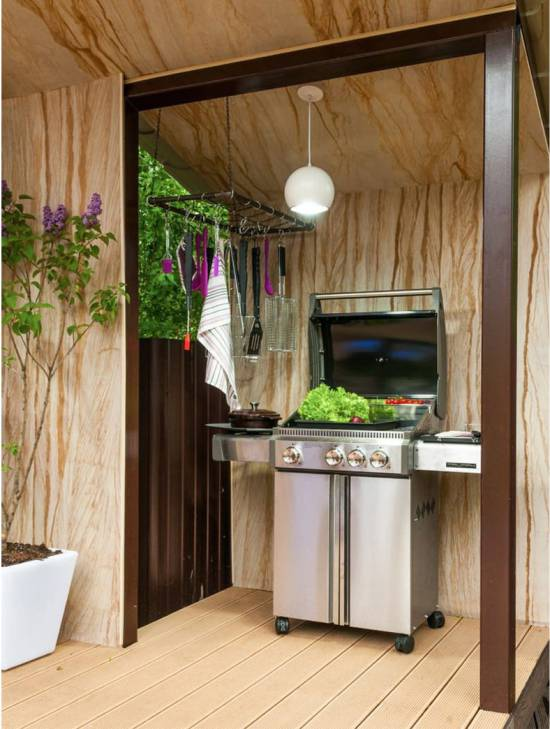 11 useful tips for summer kitchen arrangement decor around the world to make it comfortable for you to cook in the evenings set the backlight directly above the working areaif you limit yourself to the lamp behind it solutioingenieria Image collections