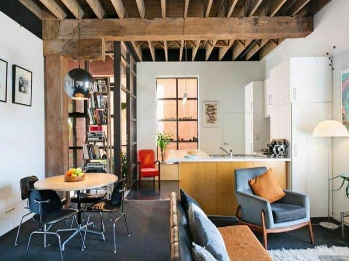 use of loft style in the interior